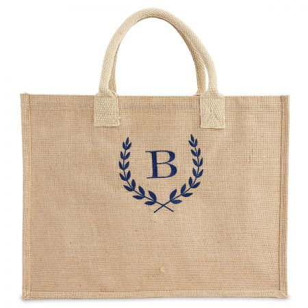 Personalized Large Jute Tote