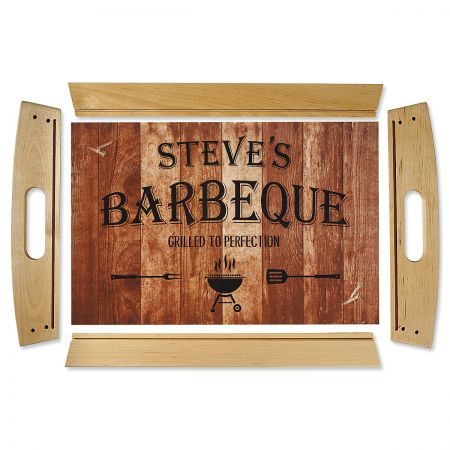 Personalized Barbeque Serving Tray