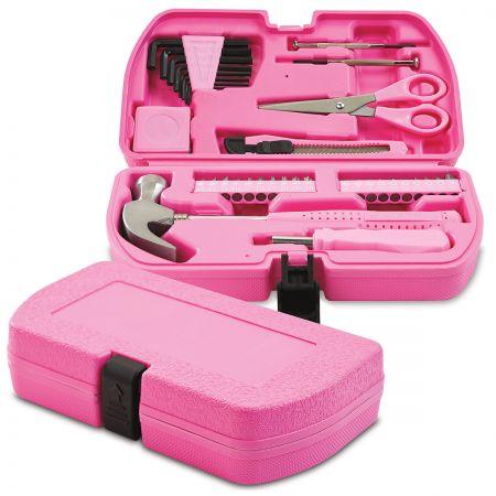 Pink Tool Set - 35 Piece