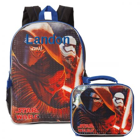 Personalized Star Wars Backpack and Lunch Bag Set