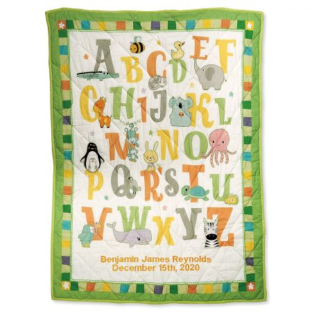 Personalized ABC Baby Quilt