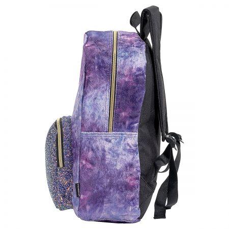 Personalized Purple Crushed Velvet & Glitter Backpack