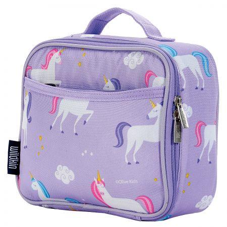Personalized Purple Unicorn Lunch Bag