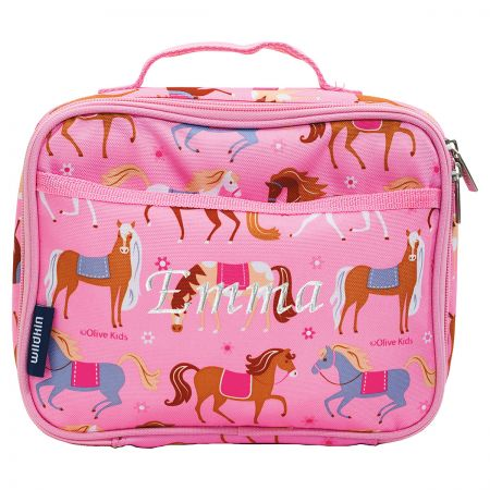 Personalized Horse with Saddle Lunch Bag