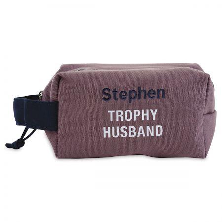 Personalized Trophy Husband Dopp Kit