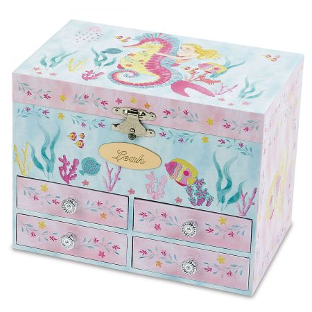 Personalized Mermaid Music Box