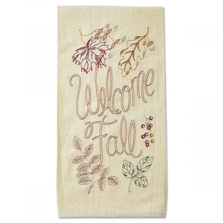 Welcome Fall Kitchen Towel
