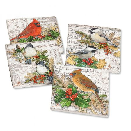Winter Song Holiday Coasters