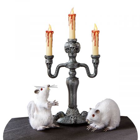 Haunted mansion led candelabra lillian vernon for Home decor 91711
