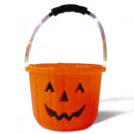 Light-Up Pumpkin Treat Bucket