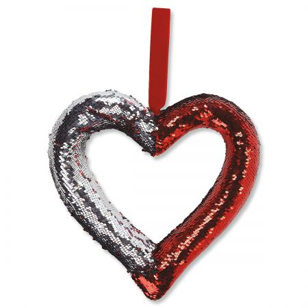 Reversible Sequin  Heart Deco