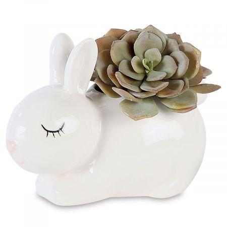 Stoneware Bunny Planter