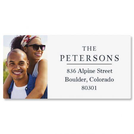 Classic Border Personalized Photo Address Label