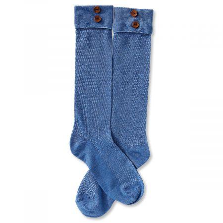 Boot Socks - Light Blue Chevron