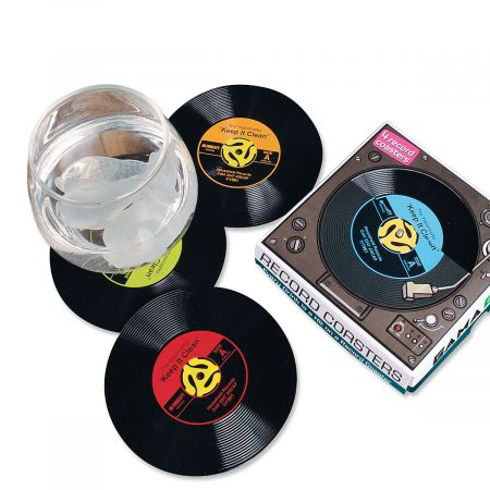 Retro Record Coasters