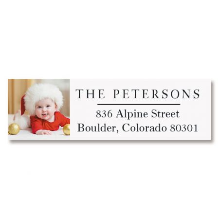 Classic Personalized Photo Address Label