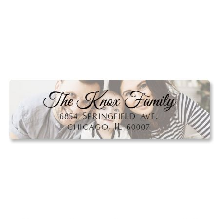 Full Classic Personalized Photo Address Label