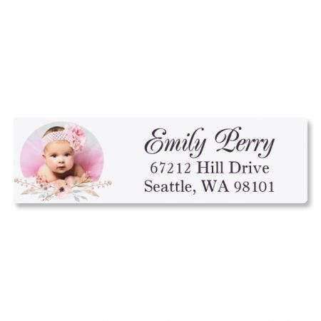 Floral Classic Personalized Photo Address Label
