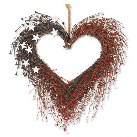 Americana Heart Wreath