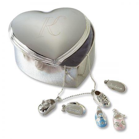 Personalized Heart Trinket Box