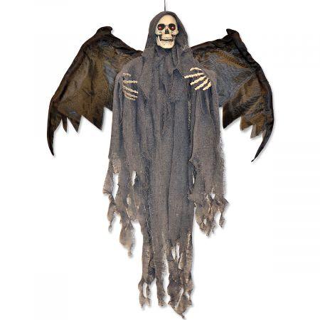 Hanging Animated Bat Ghoul