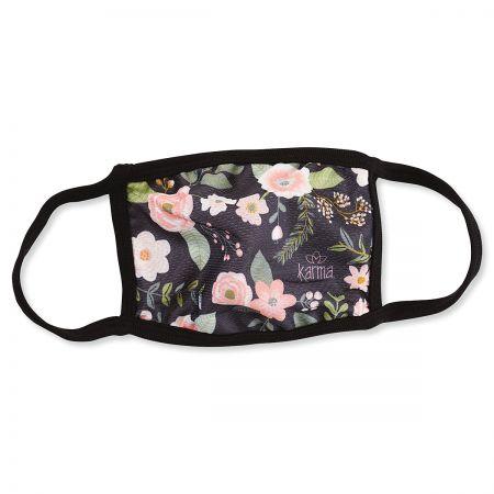 Black Floral Reusable Face Mask