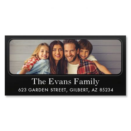 Modern Deluxe Personalized Photo Address Label