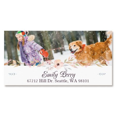 Floral Deluxe Personalized Photo Address Label