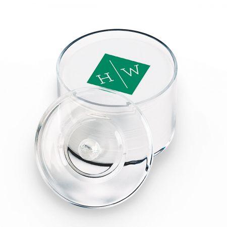 Personalized Letterpress Coasters 2 Initial Diamond Mono