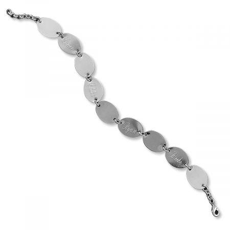 Personalized Namesake Silver Link Bracelet