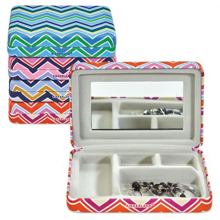 Portable Stripped Jewelry Case