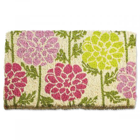 Dahlias Welcome Coco Doormat
