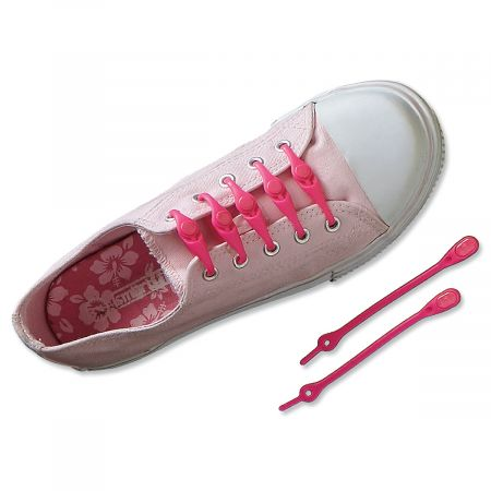 Pink Shoe Lacing System from Hickies®