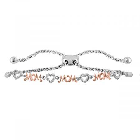 Diamond Accent Mom Bolo Bracelet