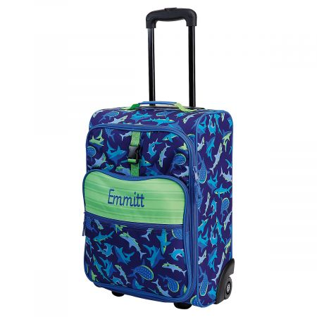 "All-Over Shark Print 22"" Rolling Travel Luggage by Stephen Joseph®"