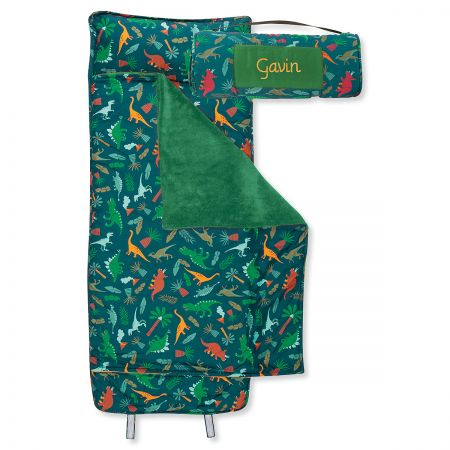 Personalized All-Over Green Dino Print Nap Mat by Stephen Joseph®