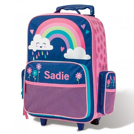 "Personalized Rainbow 18"" Rolling Luggage by Stephen Joseph®"