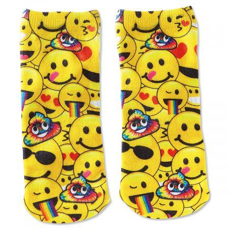 Emoji Smile Ankle Socks Pair