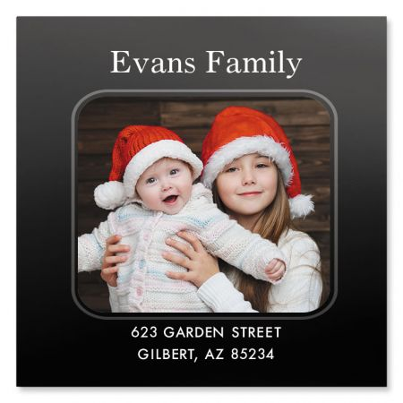 Modern Large Square Personalized Photo Address Label