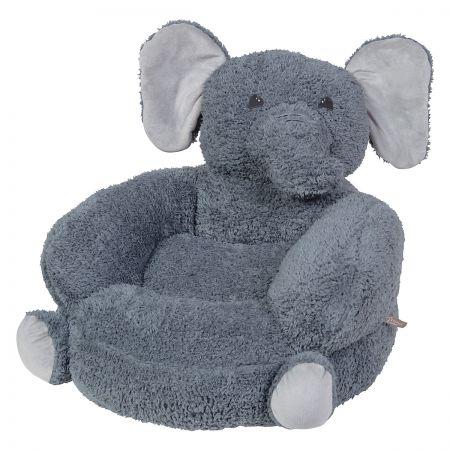 Children's Sherpa Elephant Plush Character Chair