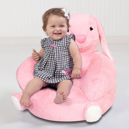 Children's Bunny Plush Character Chair