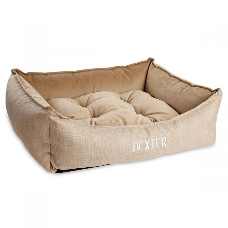 Small Scoop Flax Dog Bed by Bowsers Pet Products