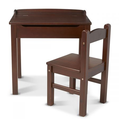 Wooden Lift-Top Desk and Personalized Chair by Melissa & Doug®