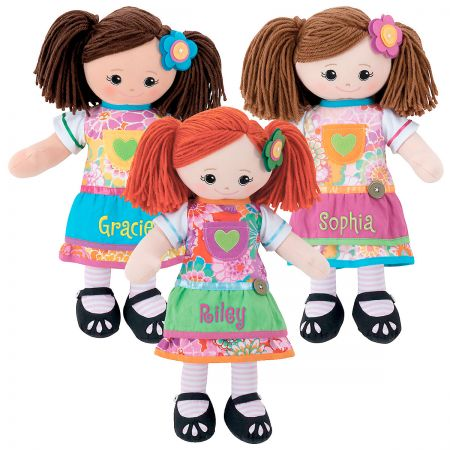 Personalized Rag Doll with Apron Dress