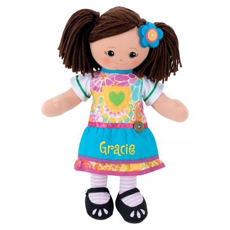 Personalized Hispanic Rag Doll with Apron Dress