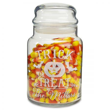 Personalized Glass Treat Jars
