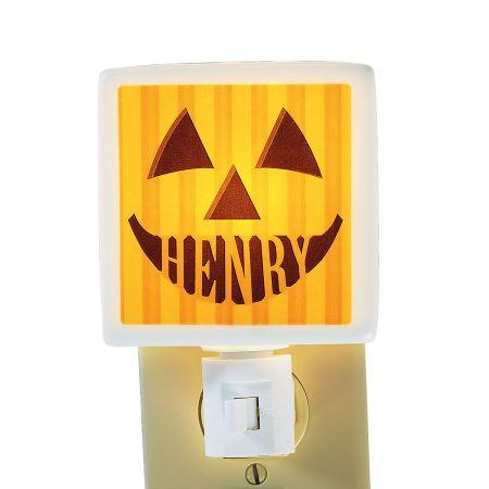 Personalized Jack-O'-Lantern Nightlight