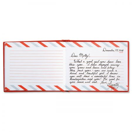 Santa's Autograph Book inside