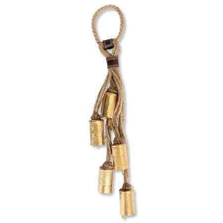 Jute Door Hanger with Bells
