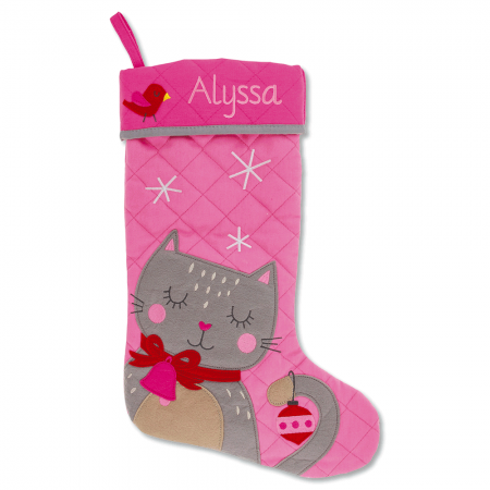 Cat Personalized Christmas Stocking by Stephen Joseph®